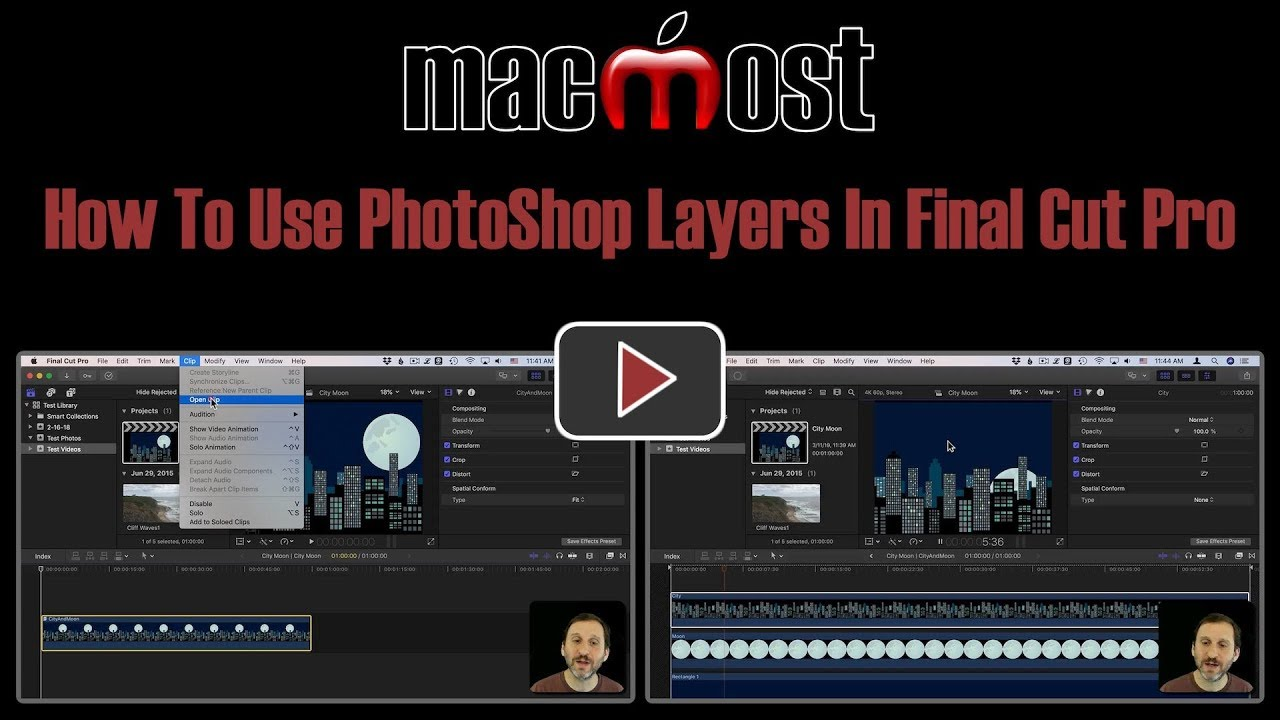 How To Use PhotoShop Layers In Final Cut Pro (MacMost #1873