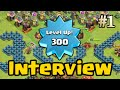 Clash of Clans - Highest Level Player Brandon Interview - World Breaking Record Level 300! [Part 1]