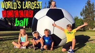 WORLD'S LARGEST SOCCER BALL!!