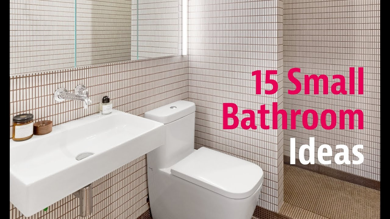15 Small Bathroom Ideas You