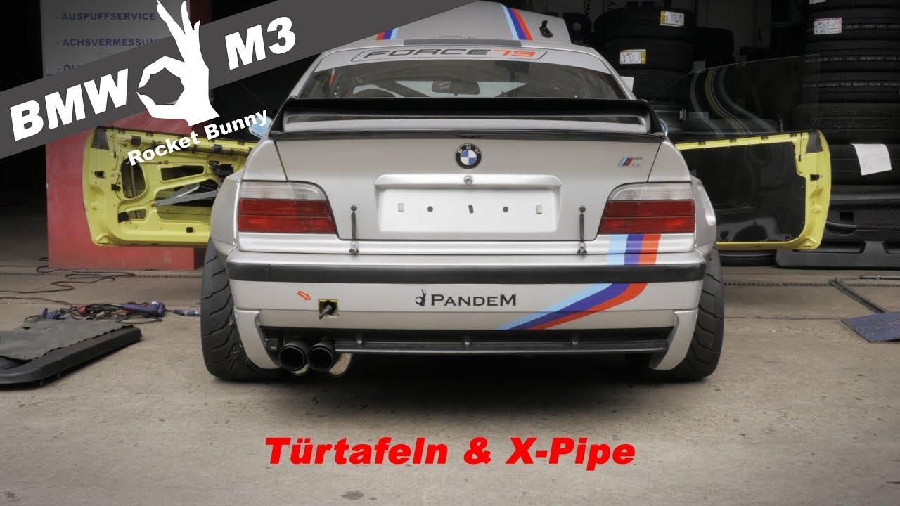 BMW e36 M3 Rocketbunny - Türtafeln & X-Pipe Einbau