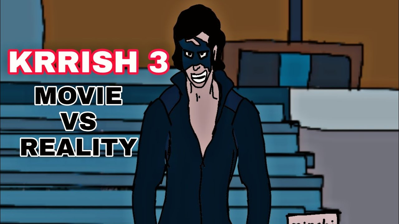 Krrish 3 movie vs reality | funny spoof | 2d animation | by animated vines of mk