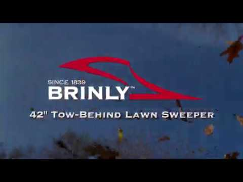 """NEW!! Brinly STS-427LXH 42"""" Tow-behind Lawn Sweeper"""