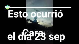 Extraña nube en Caracas 23 Septiembre 2017