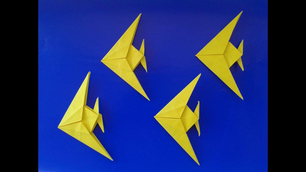 origami fish оригами рыбка - YouTube - photo#26