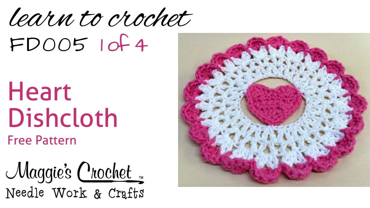 How To Crochet A Heart Shaped Dishcloth www.galleryhip ...
