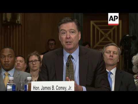 FILE of James Comey: Trump Fires FBI Director
