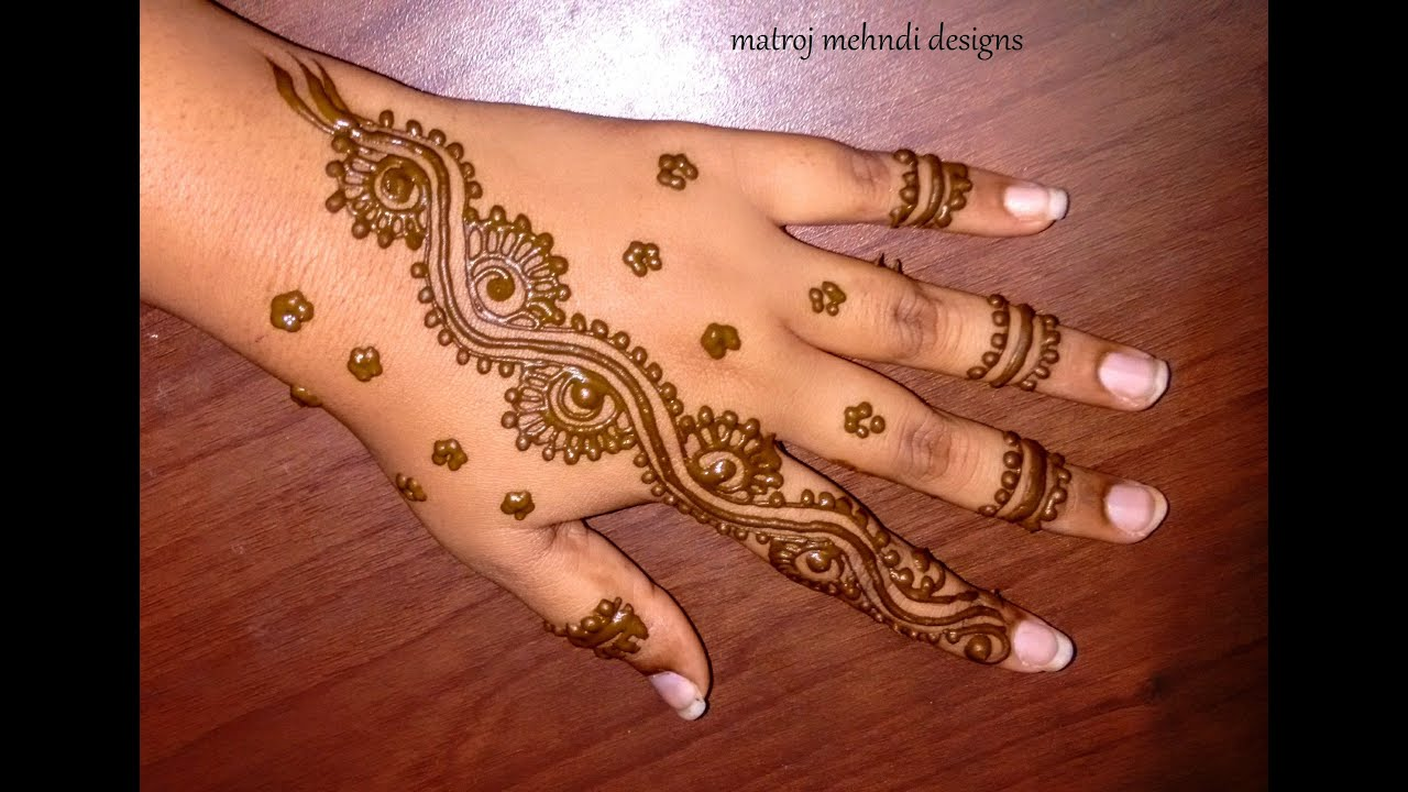 Mehndi For Thin Hands : Easy simple mehndi designs for hands matroj youtube