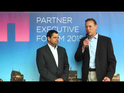 NetApp EMEA Partner Executive Forum 2015 - Chatting with Manfred Reitner