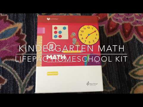 Kindergarten Math Curriculum/ homeschool LifePac/ AOP