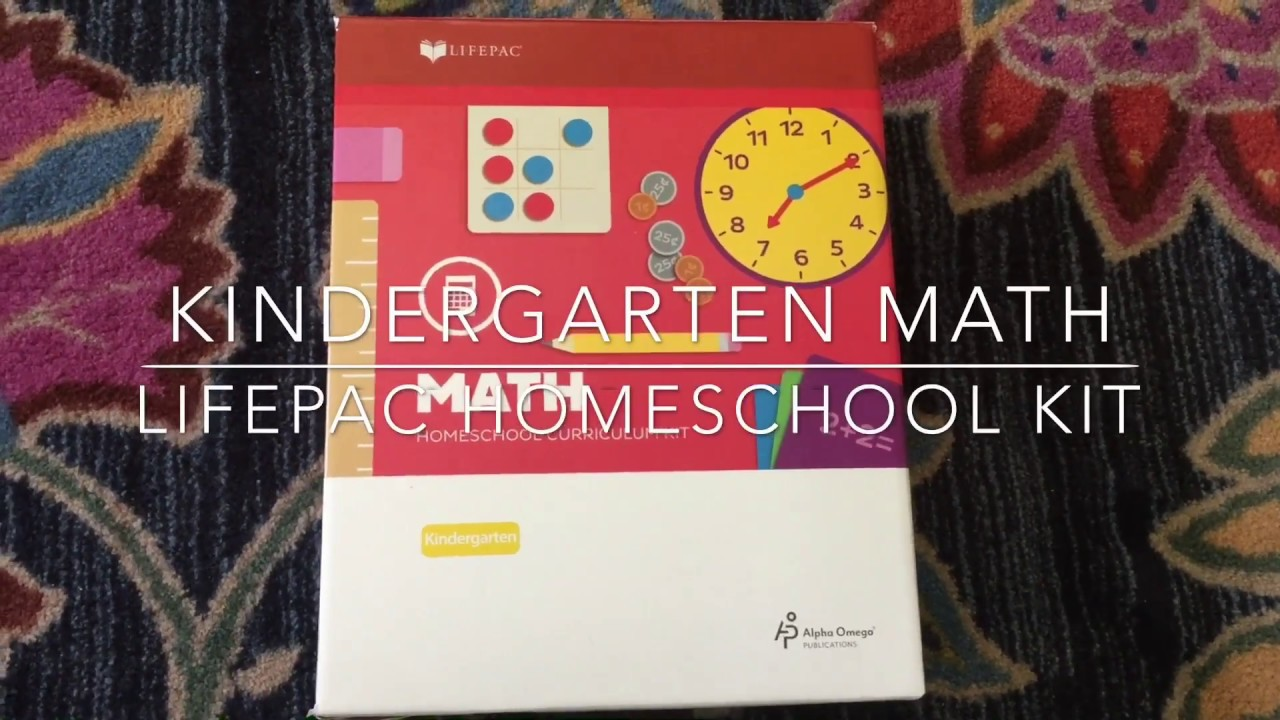Kindergarten Math Curriculum/ homeschool LifePac/ AOP