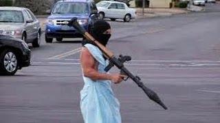 Fake Terrorist Grenade Launcher Stunt