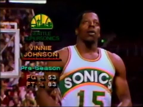 Vinnie Johnson as a Seattle SuperSonic (First Career Start - 1980)