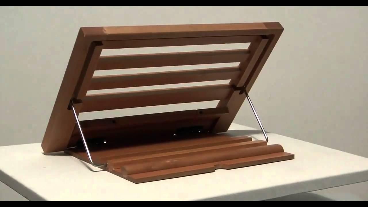 Leggio in legno da tavolo cm 24 x 34 youtube - Portacellulare da tavolo fai da te ...