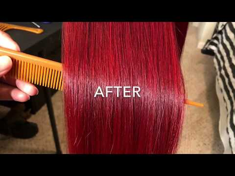 Using L'Oréal HiColor (Red) to dye weave