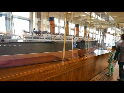 Giant Ship Models of Titanic, Queen Mary, Queen Victoria, SS Normandie & Lusitania