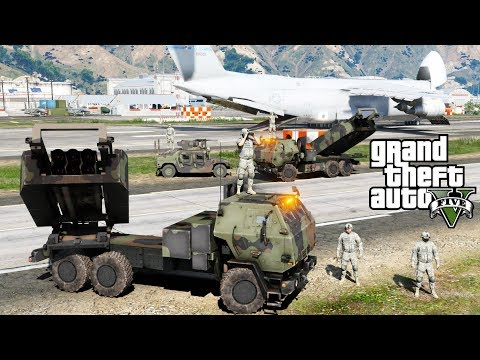 GTA 5 |United States Military Delivers Missile Defense System To Guam To Protect It From North Korea