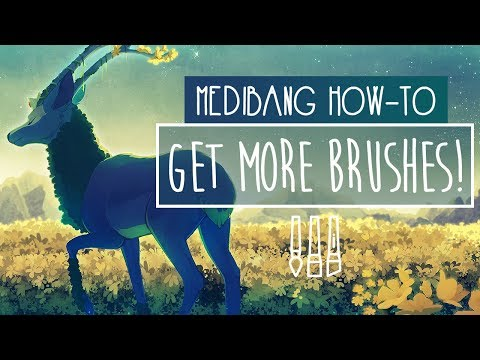 4 WAYS to get MORE BRUSHES in MEDIBANG | TUTORIAL | Medibang Paint Pro