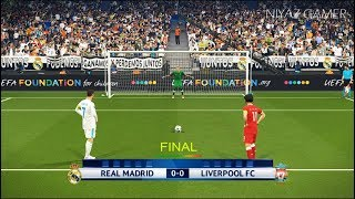 Real madrid vs liverpool | final uefa champions league - ucl | penalty shootout | pes 2018 gameplay