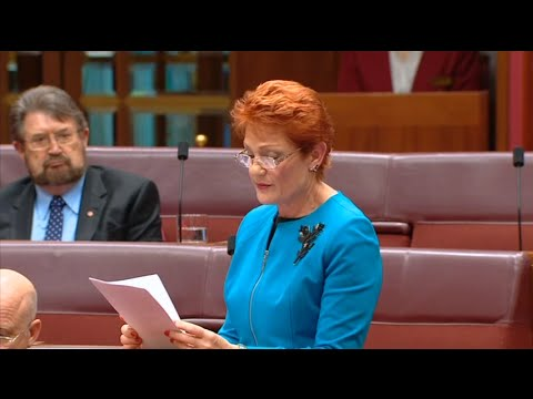 Pauline Hanson's Opening Speech 2016.  (Islam And Foreign Ownership The Threat) (Maiden Speech)