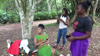 Socializing at Aburi Botanical Gardens - Ghana May 2018 Tour