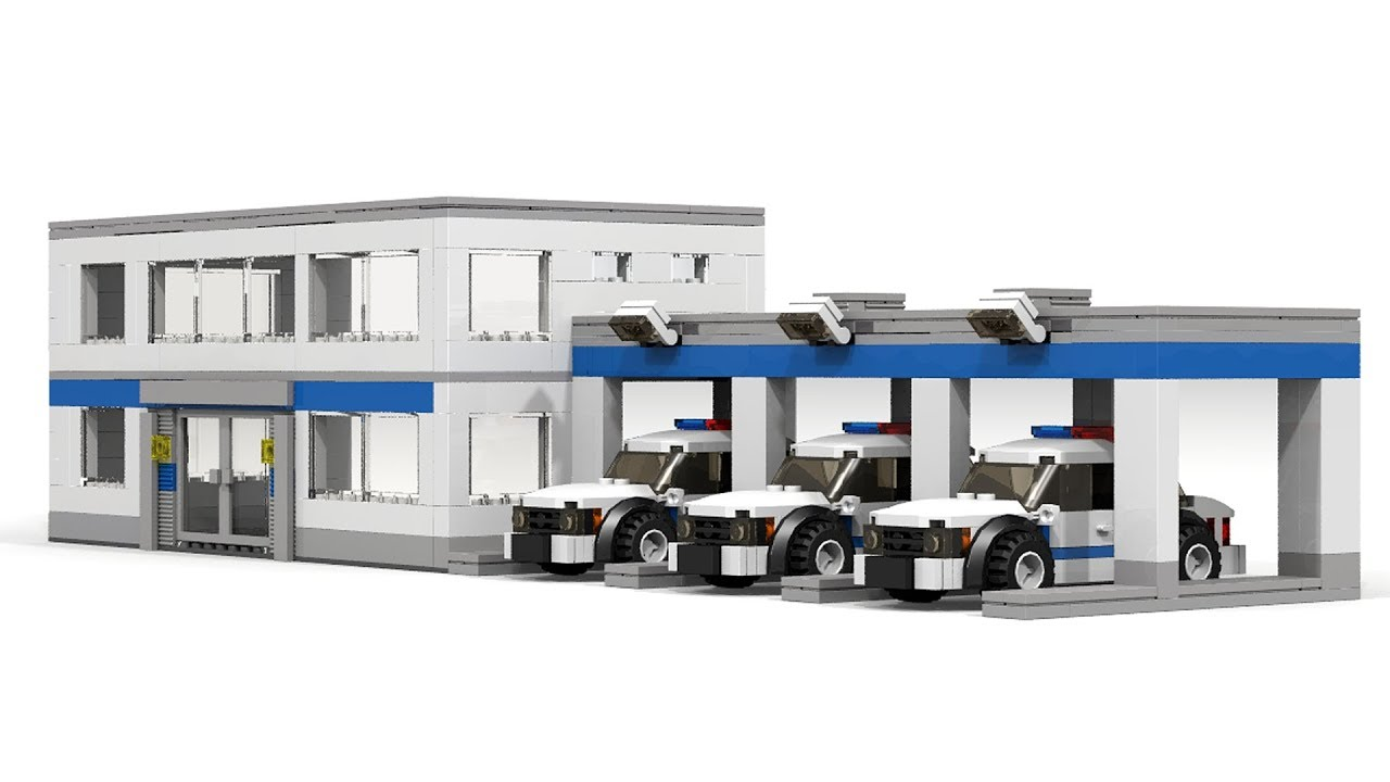 Custom LEGO City Police Station Building Instructions