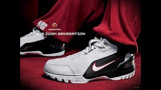 Lebrons' Soldout 60sec   Double-Up Unboxing Air Zoom Generation King's First   In-Depth Review