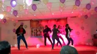 energentic dance performance by mvgr hostels girls high heels and chimpak jhimpak