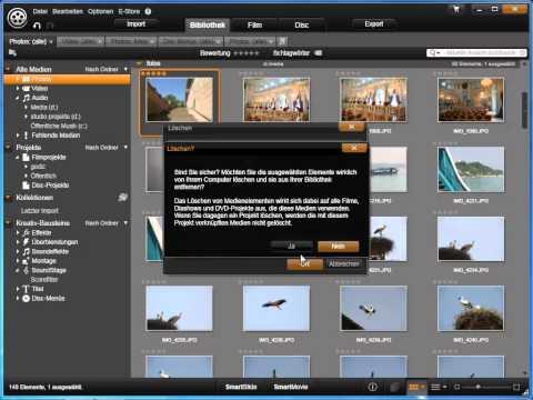 Projekte und Clips löschen in Avid studio und Pinnacle Studio