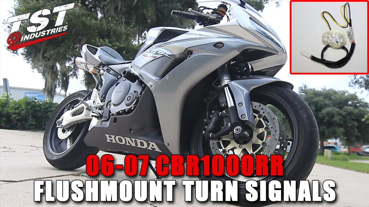 How To 06 07 Honda Cbr 1000rr Flushmount Signal Installation By Tst 2006 Cbr1000rr Wiring Diagram Industries Youtube