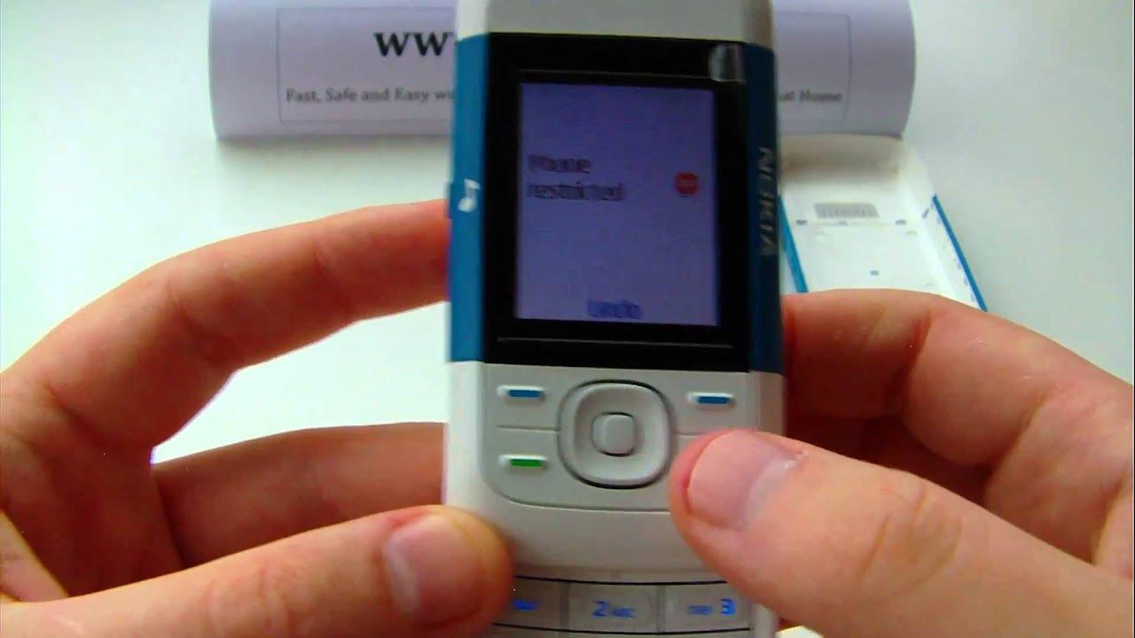 nokia 5200 unlock input enter code avi youtube