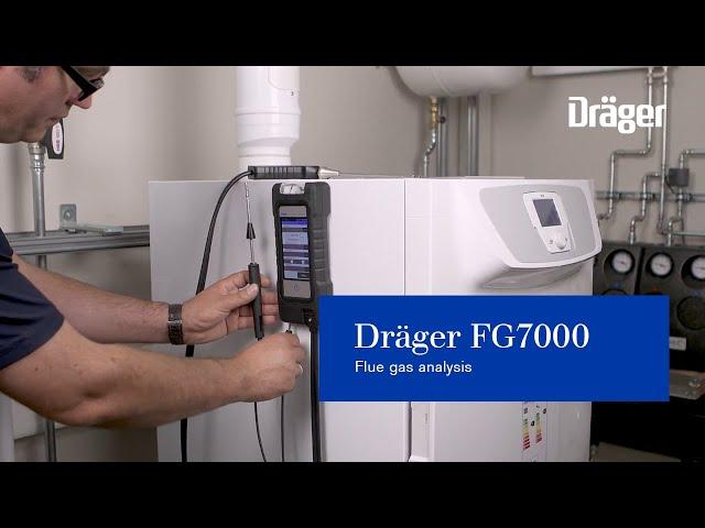 Dräger FG7000 for flue gas analysis