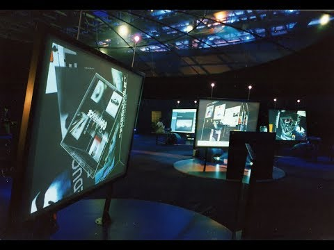 Navigation Room and Hypercube Interface (Pivotal UX and Exhibition design - 1997)