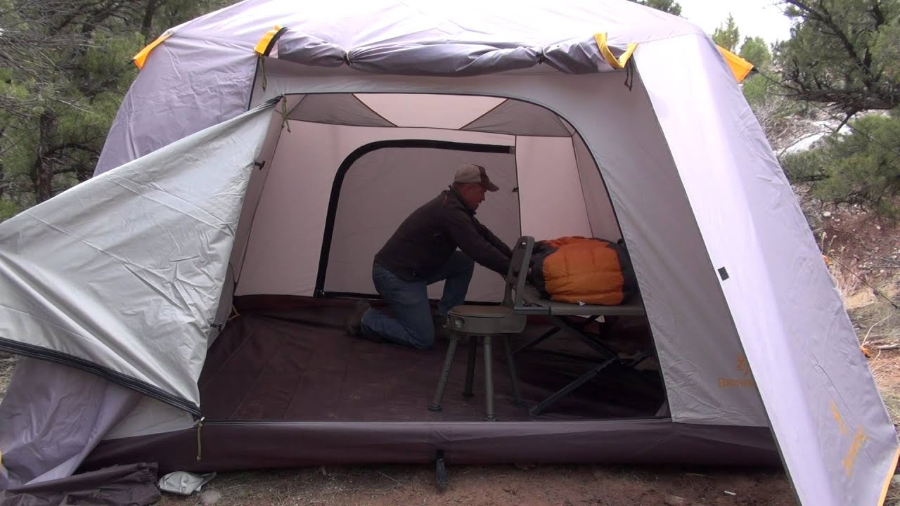 & Browning Glacier Extreme Tent - YouTube