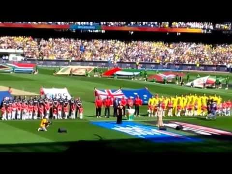 World Cup cricket Australia vs NZ at MCG - Australian National Anthem