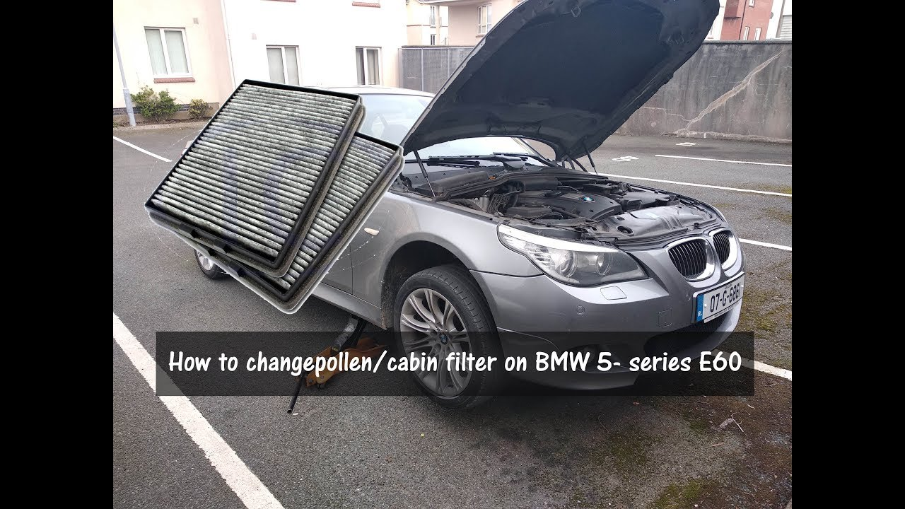 How To Change Pollen Cabin Filter Bmw 5 Series E60 E61 Hd Eng Youtube