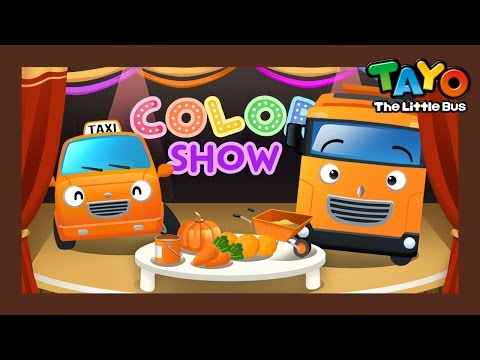 Orange l Color Game #2 l Learn Street Vehicles l Tayo the Little Bus