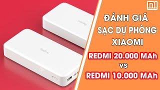 Review Sạc Dự Phòng Xiaomi Redmi 20000 mAh và 10000mAh
