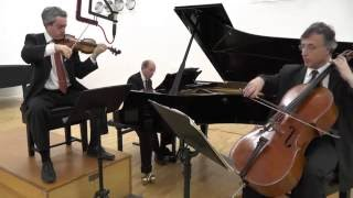 Trio Shaham Erez Wallfisch perform Brahms's Piano Trio No. 2 Mvt 3