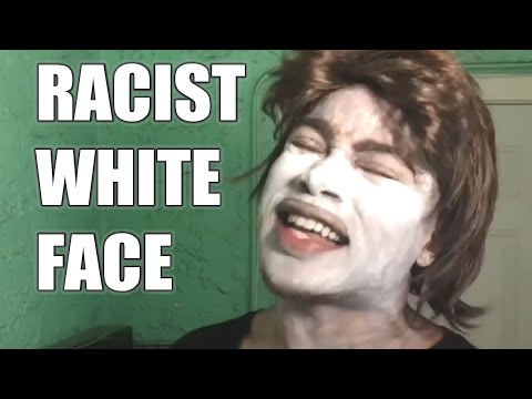 Racist Black Man Does 'WHITE FACE'