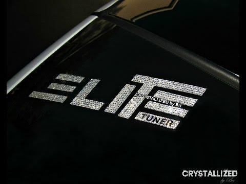 Swarovski Crystal Elite Tuner Decal Crystallized by CRYSTALL!ZED by Bri