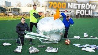 NAJWIĘKSZA KULA Z FOLII ALUMINIOWEJ VS Piłka Nożna! | PNTCMZ