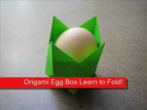How to make an origami egg holder youtube for How to make paper egg trays