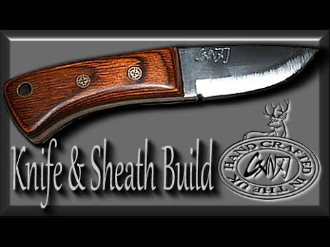 HOW TO MAKE A SMALL DROP POINT HUNTING KNIFE & SHEATH