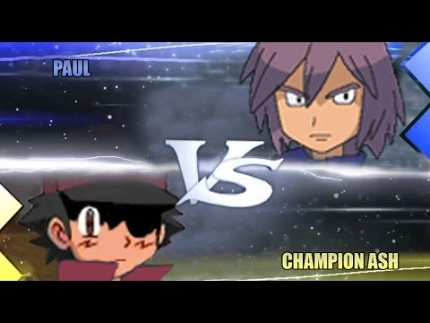 Pokemon Omega Ruby & Alpha Sapphire [ORAS]: Champion Ash Vs Paul