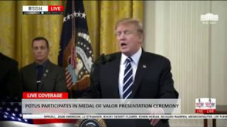 RSBN - President Trump Participates in the Public Safety Officer Medal of Valor Presentation Ceremon