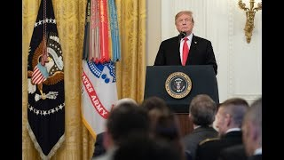 President Trump Participates in the Public Safety Officer Medal of Valor Presentation Ceremony
