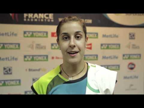 Carolina Marín | Flash Interview | Yonex French Open 2015
