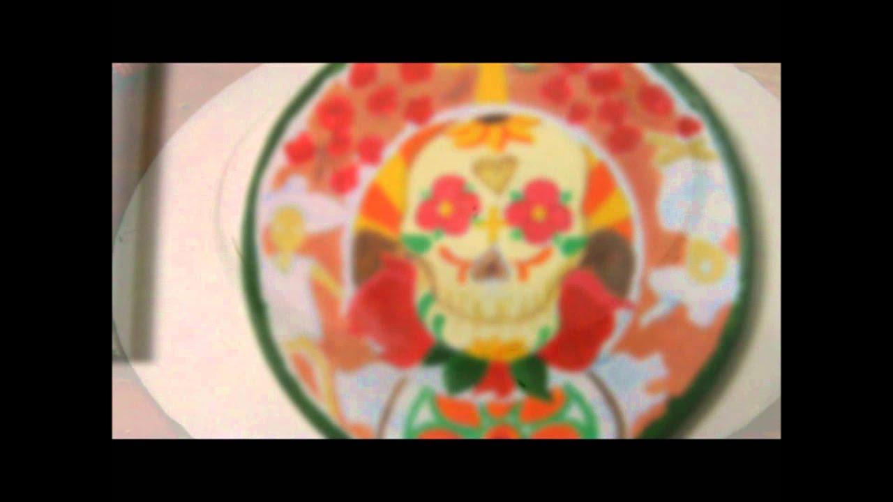 Artesanias como hacer platos de ceramica decorativos for Como hacer espejos decorativos