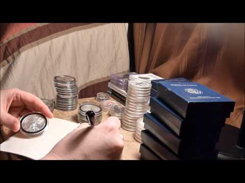 ASMR Sounds - Mostly Silent Coin Collection Sorting